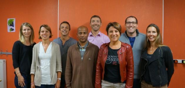 De gauche à droite : Fabienne, Marie-Edith, Xavier, Stéphane, Jérôme, Christine, Grégory et Nadège. Absent : Cédric.